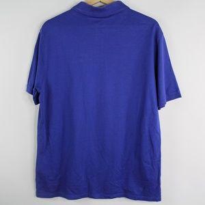Louis Vuitton Shirts - Authentic LV Louis Vuitton Polo Shirt Blue Logo XL